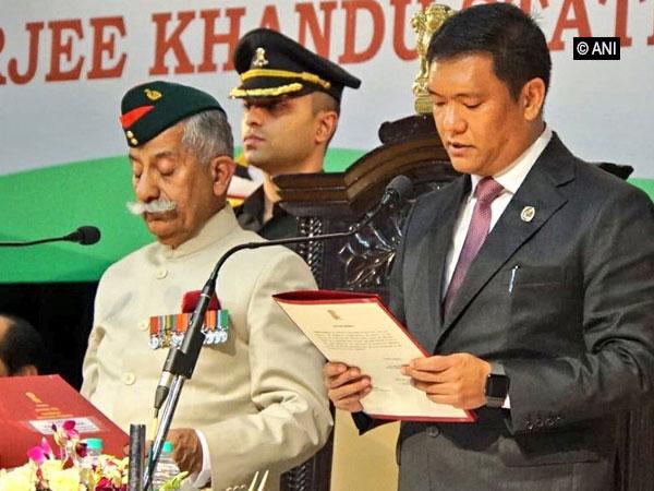 BJP leader Pema Khandu was sworn-in as the Chief Minister of Arunachal Pradesh on Wednesday. Photo/ANI