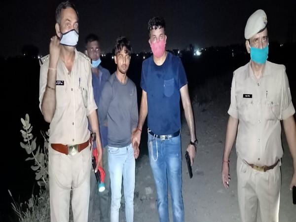 Four robbers were arrested in Gautam Buddh Nagar. (Photo/ANI)