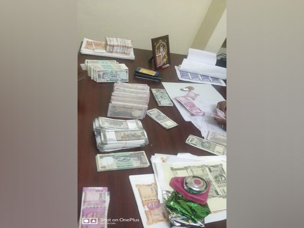 Rs 14 lakh fake currency in various denominations were seized from the accused. Photo/ANI