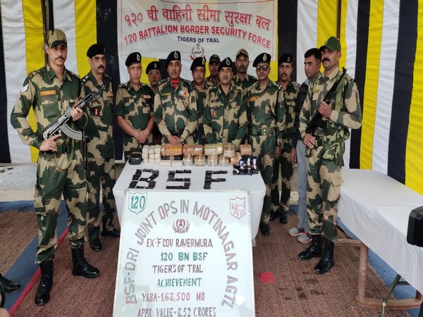 BSF-DRI in a joint operation seized  1,68,500 Yaba tablets worth Rs 8.52 crore.