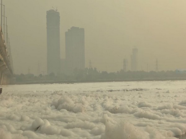 Thick layer of 'toxic' foam envelops Yamuna River in Delhi