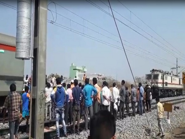 A major train accident was averted in Telangana's Janagam on Tuesday. [Photo/ANI]