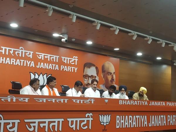 Balkaur Singh joined the BJP on Thursday in New Delhi. Photo/ANI