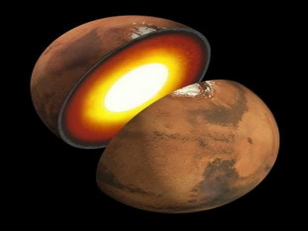 An artist's impression of Mars' inner structure. (Image courtesy of NASA/JPL-Caltech)
