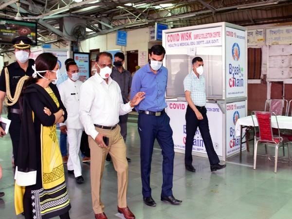 Jammu and Kashmir LG Girish Chandra Murmu visits Jammu Railway station on Saturday