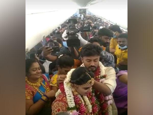 Visuals of mid-air wedding (ANI)