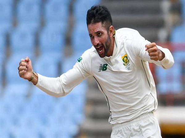 South Africa spinner Keshav Maharaj (Photo/ ICC Twitter)