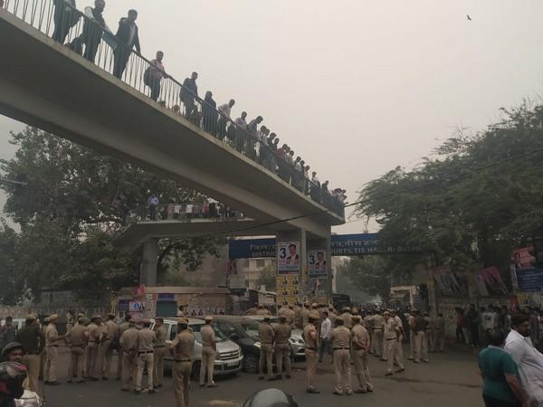 Delhi Police personnel deployed outside Tis Hazari Court complex in New Delhi on Saturday. (File photo)