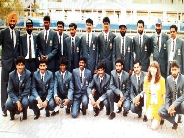 AB Subbaiah and team at the 1992 Olympics  (Image: Hockey India)