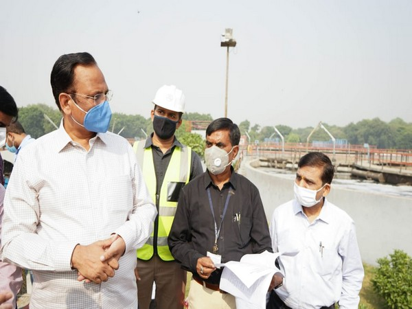 Delhi Minister (Water) and Chairman of DJB Satyendar Jain visited Waste water Treatment Plants at Rohini