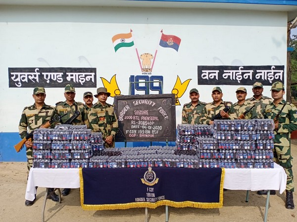 The Border Security Force (BSF) troops has seized a total of 2,125 bottles of phensedyl, 22 cattle and other smuggled items worth over Rs 5 lakh from different border areas.
