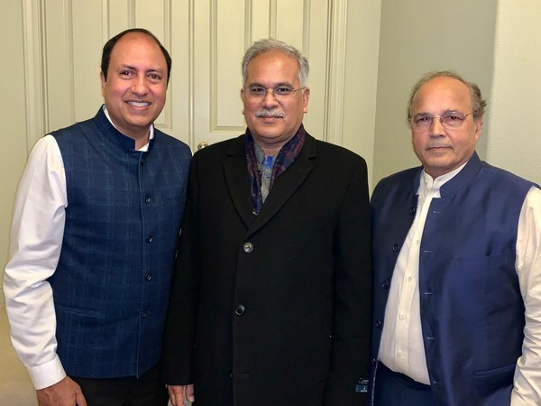 Chhattisgarh Chief Minister Bhupesh Baghel with Indian-American investors in San Francisco on Wednesday.