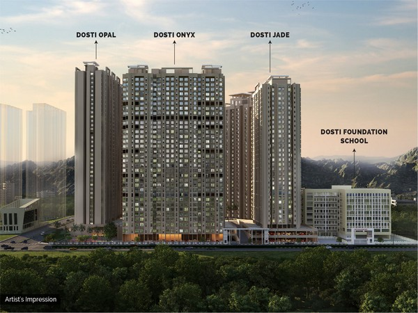 Dosti Realty launched 3 new phases within this project - Dosti Jade (Phase 2), Dosti Onyx (Phase 3) and Dosti Opal (Phase 4)
