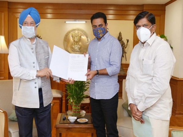 Telangana Minister KT Rama Rao demanded Union Minister Hardeep Singh Puri for release of funds under key central sector schemes amounted to Rs 2,537.81 crores.