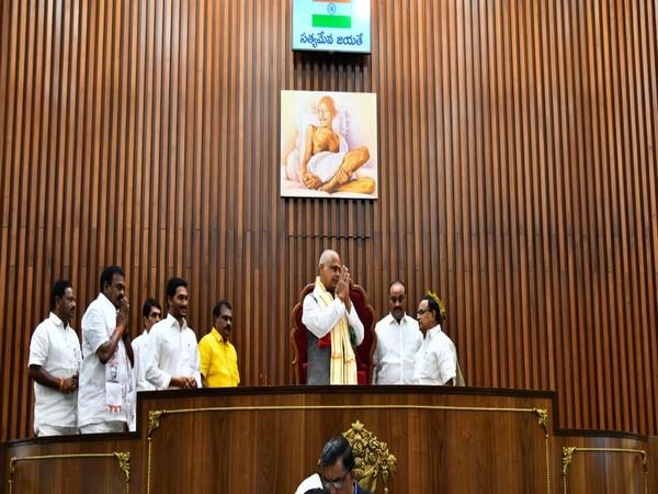 Tammineni Seetaram was elected as the speaker of Andhra Pradesh Assembly on Thursday. Photo/ANI
