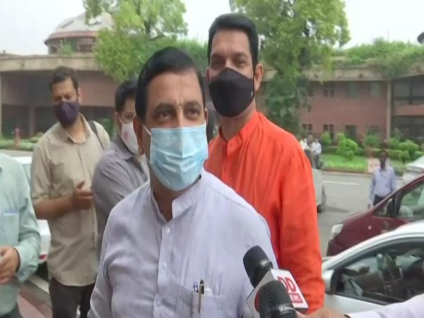 Parliamentary Affairs Minister Pralhad Joshi speaking to ANI in New Delhi.