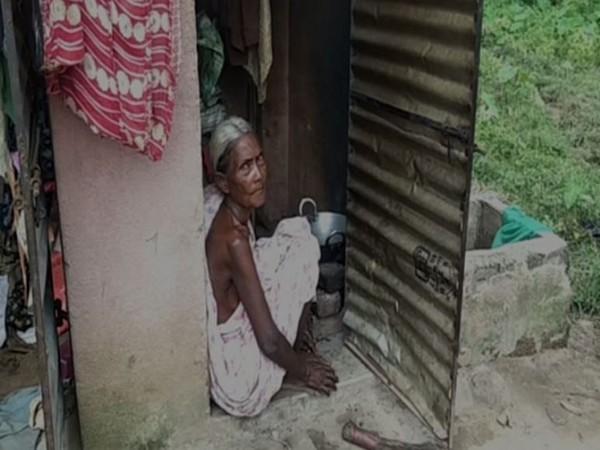 Draupadi Behera residing in a toilet in Odisha (Photo/ANI)