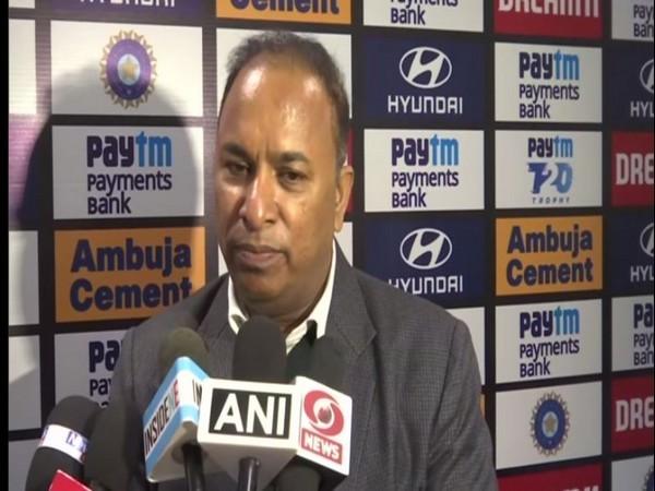 Assam Cricket Association (ACA) secretary Devajit Saikia speaking to reporters in Guwahati on Friday.