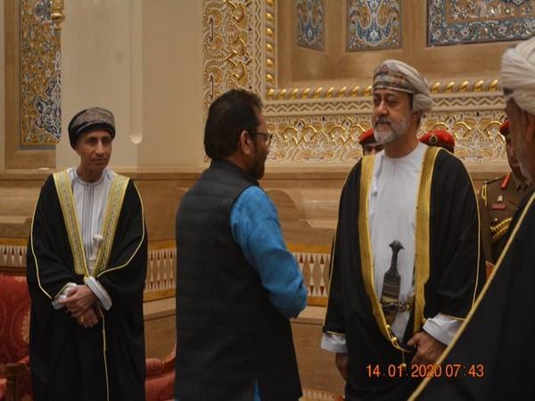 Union Minister for Minority Affairs, Mukhtar Abbas Naqvi meeting Oman's Sultan Haitham bin Tariq Al Said