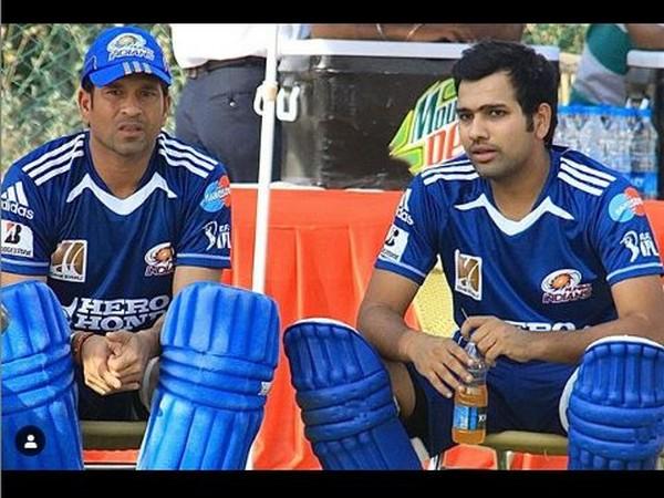 Sachin Tendulkar and Rohit Sharma (Photo/ Rohit Sharma Instagram)