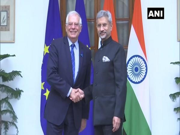 High Representative of the European Union, Josep Borrell Fontelles with External Affairs Minister S Jaishankar here on Friday