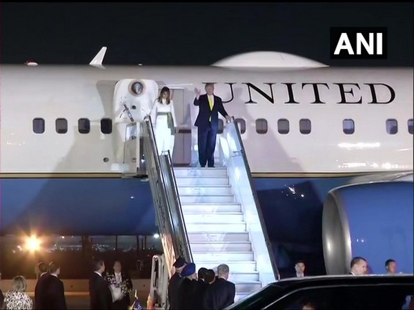 US President Donald Trump and First Lady Melania Trump arrived in Delhi from Agra on Monday evening. Photo/ANI