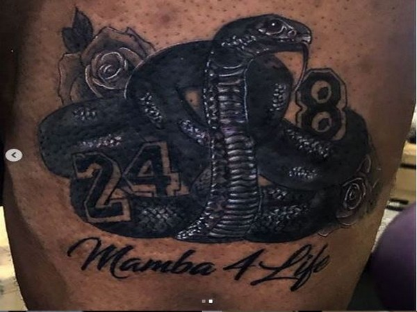 LeBron James' latest tattoo 'Mamba 4 Life' (Photo/ LeBron James Instagram)