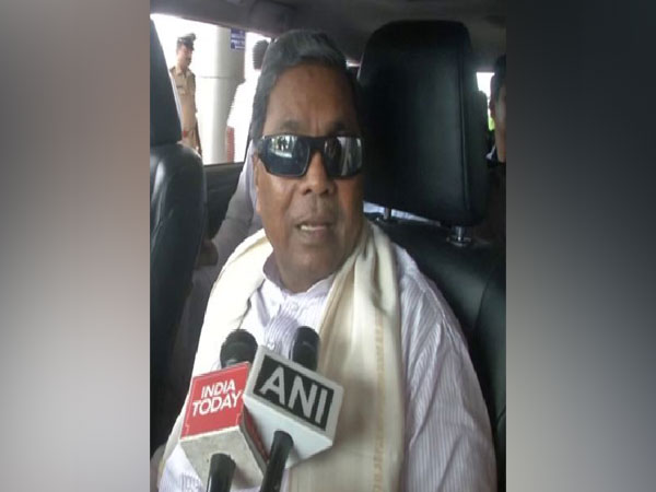 Siddaramaiah speaking to reporters earlier on Monday in Hubli. Photo/ANI
