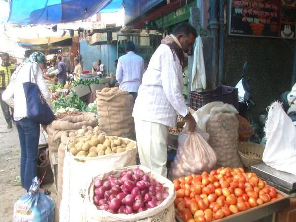 An image of Siliguri Bidhan Market. Photo/ANI