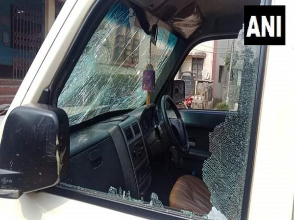 Vehicle of State Congress president Pijush Kanti Biswas was attacked allegedly by BJP workers.