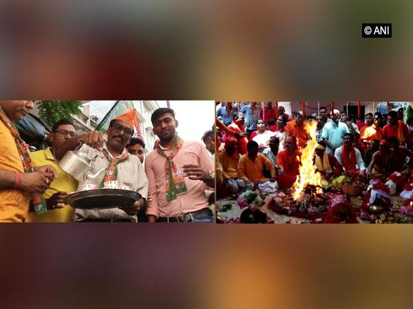 Visuals of tea seller distributing free tea in Siliguri and priests performing Yagya in Birbhum, West Bengal.