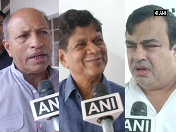 BJD leaders Amar Satpathy, Soumya Ranjan Patnaik and Rohit Pujhari (left to right) speaking to ANI.