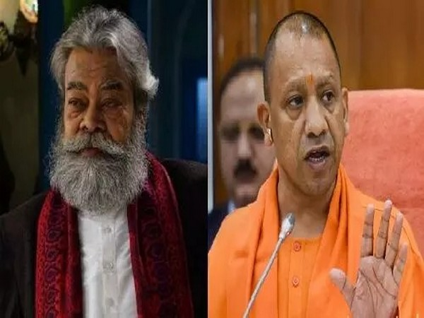Actor Anupam Shyam Ojha (left) UP Chief Minister Yogi Adityanath (right)