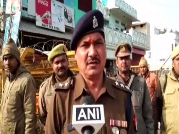Circle Officer Amar Singh speaking to ANI on Wednesday in Ayodhya. Photo/ANI