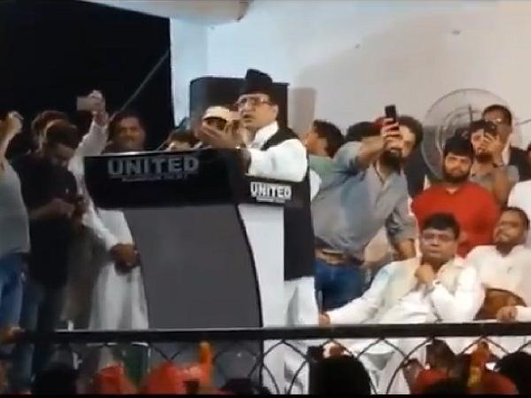 SP leader Azam Khan addresses public in Lucknow, UP [Photo/ANI]