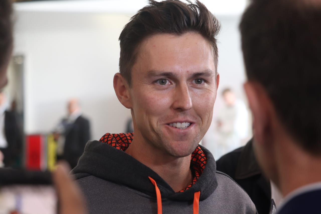 New Zealand fast bowler Trent Boult at Auckland Airport