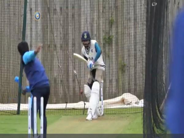 Virat Kohli at the nets. (Photo/ BCCI video grab)