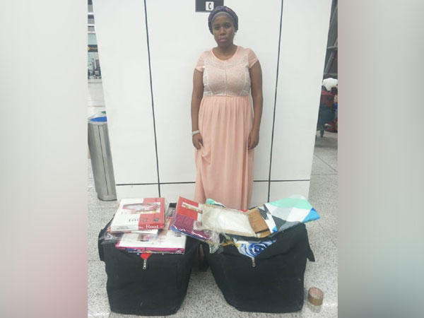 CISF personnel on Tuesday nabbed an African woman with 12.8 kg Contraband item (Pseudoephedrine drug) at IGI airport in New Delhi on Tuesday.