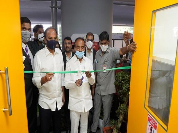 Telangana State Health Minister Eatala Rajendar inaugurated the COVID-19 testing lab at GMR Hyderabad International Airport