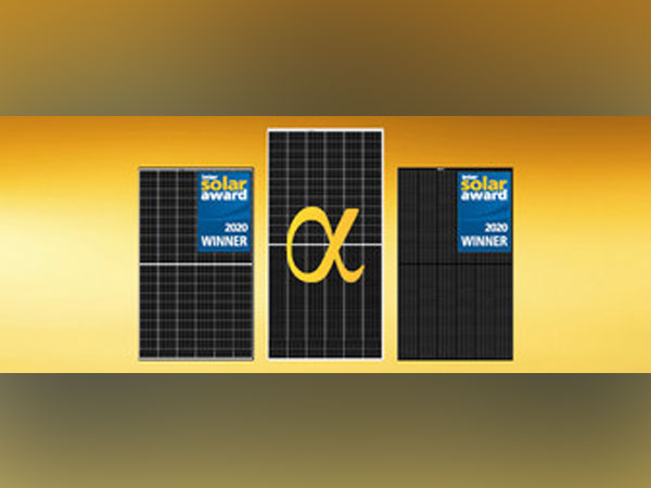 The award-winning REC Alpha Series winning the outstanding innovation award for module Technology at the PV Module Tech by Solar Quarter India