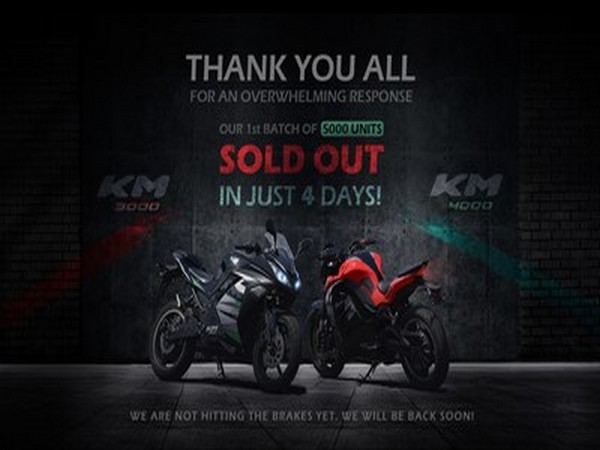 Kabira Mobility announces its First Round Booking of 5000 Electric Bikes, KM3000 and KM4000 finished in less than 04 Days.