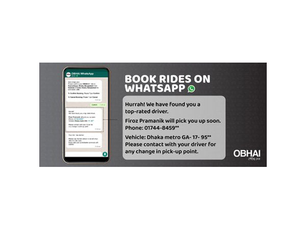 Ridesharing APP OBHAI ON WHATSAPP - A First in Bangladesh