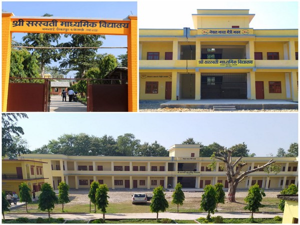 Shree Saraswati Secondary School Inaugurated in Tikapur, Nepal (Photo Credit: IndiaInNepal Twitter)