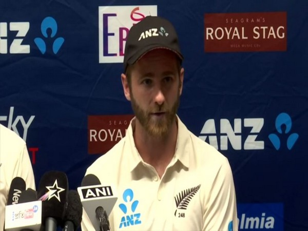 New Zealand skipper Kane Williamson speaking at a press conference in Wellington on Monday.