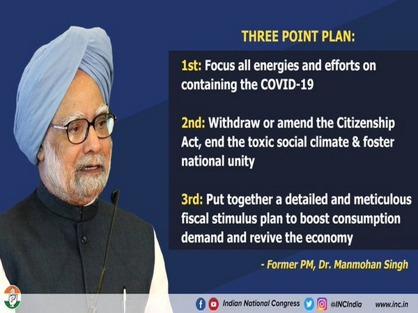 Senior Congress leader Manmohan Singh's advise to PM Modi on economy and other issues. (Pic credit; Congress Twitter)