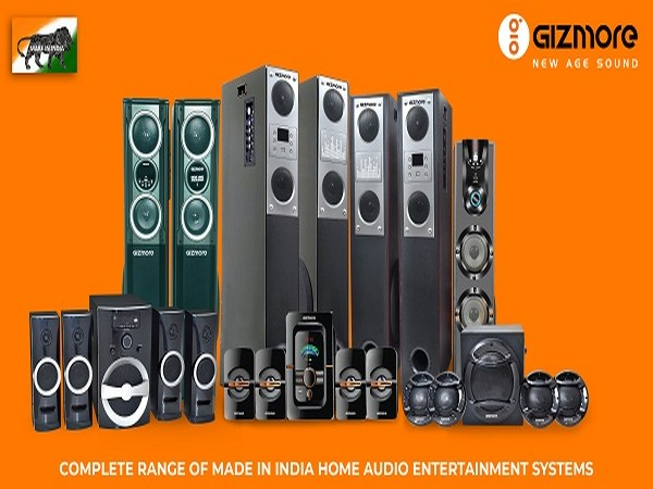 Complete range of MADE IN INDIA home audio entertainment systems by Gizmore.