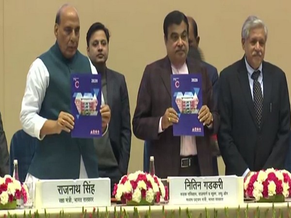 Defence Minister Rajnath Singh and Transport Minister Nitin Gadkari at Road Safety Stakeholders Meet on Monday