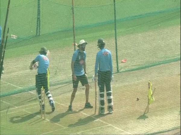 Bangladesh players train at Holkar Stadium in Indore