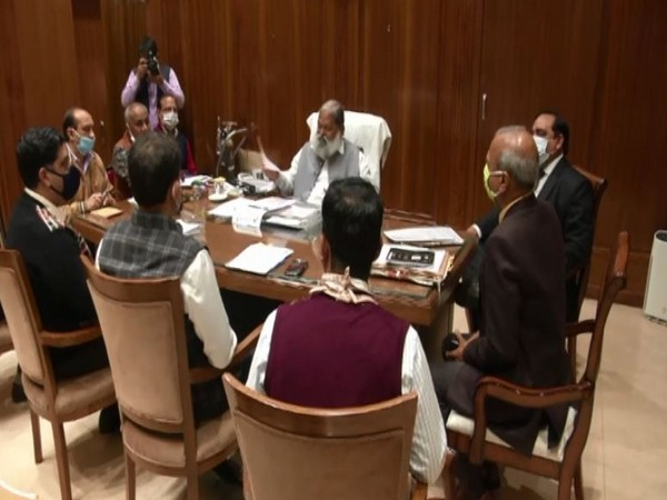 Haryana Home Minister Anil Vij at a meeting of the drafting committee on Thursday.
