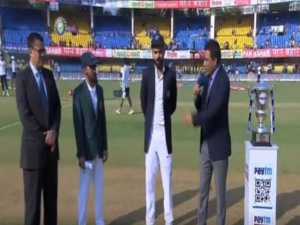 Virat Kohli and Mominul Haque during toss at Indore (Photo/ BCCI Twitter)
